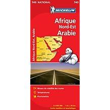 Carte NATIONAL Afrique du Nord Est et Arabie