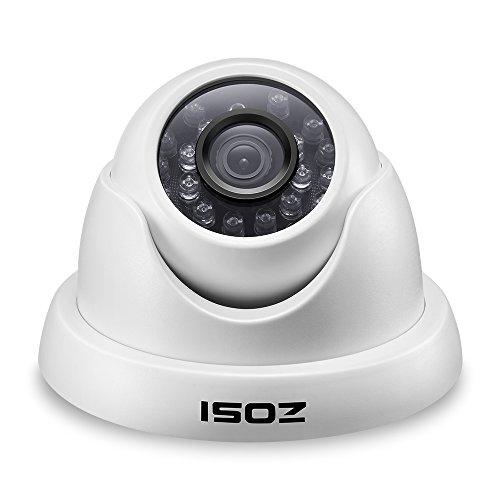 ZOSI CCTV 1000TVL 960H Outdoor Dome Video Überwachungskamera Außenkamera, 3.6mm Linse, Wasserdicht, 20M IR Nachtsicht, Weiß