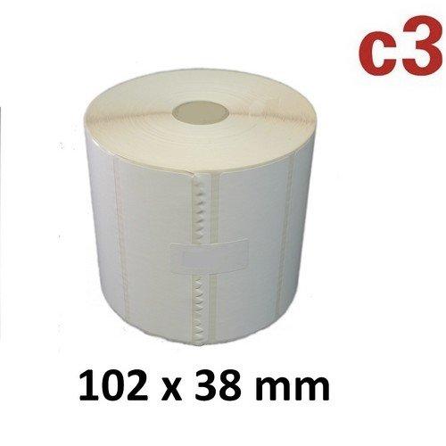 102x38 mm ThermoEtiketten Rolle mit 1.790 Etiketten Zebra ,Citizen,Intermec, TEC