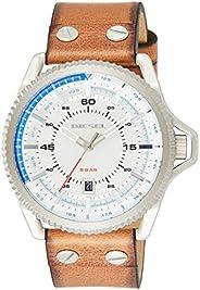 ساعة للرجال من ديزل Dz1715، سوار بني، عرض انالوج، حركة كوارتز