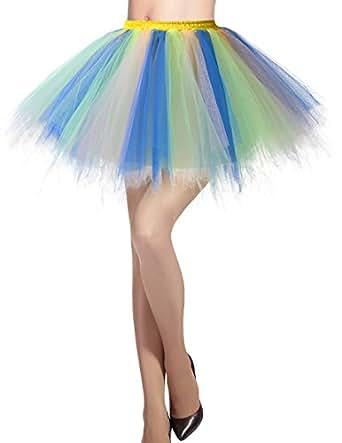 Dresstells Damen Tüllrock 50er Rockabilly Petticoat Tutu Unterrock ...