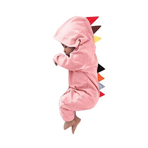YWLINK Mono con Capucha Bebé ReciéN Nacido NiñOs NiñAs Manga Larga Caricatura Dinosaurio Cremallera con Capucha Mameluco… 2