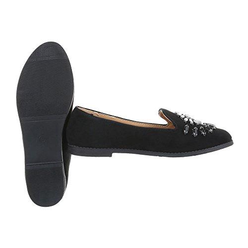 Chaussures femme Mocassins Bloc Slippers Ital-Design Noir