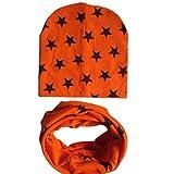 kingko® Bébé Chapeau Echarpe Garçons Filles Infant Enfants Écharpe Enfant Écharpe Chapeaux Casquettes (orange)