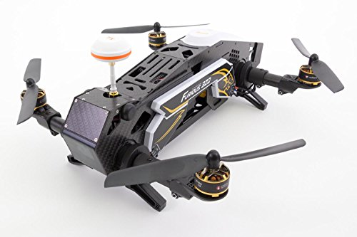 XciteRC 15003850 - FPV Racing Quadrocopter Furious 320 RTF mit Full HD Kamera, Videobrille Goggle V2, GPS, OSD, Akku, Ladegerät und Devo 10 Fernsteuerung, weiß - 9