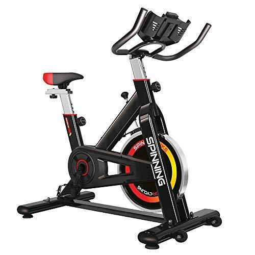 Gridinlux - Bicicleta Spinning para Todos los usuarios. Pantalla LCD. Pulsómetro. Resistencia Variable