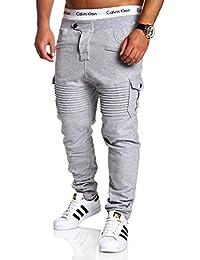 MT Styles Cargo pantalon de sport Biker - homme MA-2133