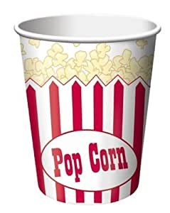 Hollywood/Movie Night Theme Party - Popcorn Cups x 8