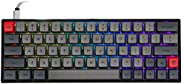 Epomaker SK64 64 Keys Hot Swappable Mechanical Keyboard with RGB Backlit, PBT Keycaps, Arrow Keys, IP6X Dustpr