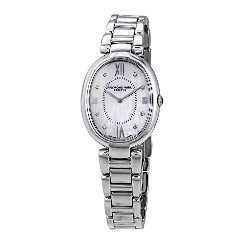 Raymond Weil Shine Ladies orologio al quarzo, madreperla, 8 diamanti, 29 mm