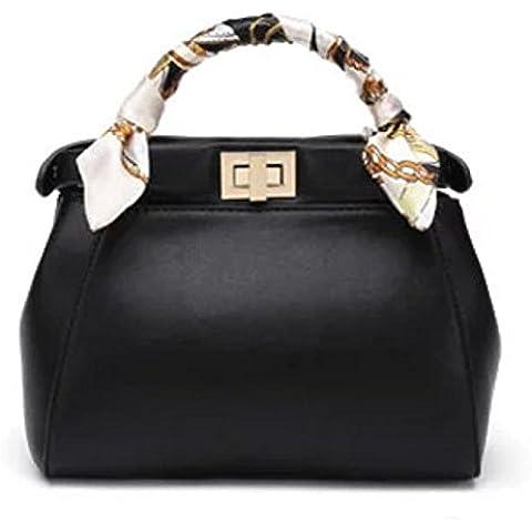 GQQ NUEVOS bolsos de hombro bolsos moda Dacron PU para la parte comercial y en el trabajo hasta 5 L GQ bolso @ , black