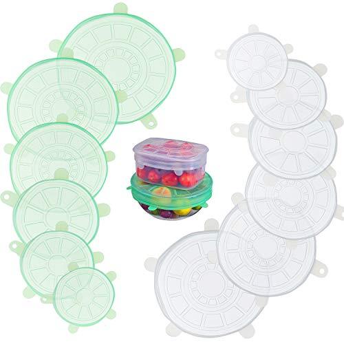 Vista silikondeckel Stretch Deckel Abdeckung 12er in Verschiedenen Größen für Schüsseln Becher Dosen Obst flexibel Lid