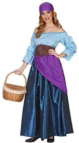 Damen Langes Fortune Teller Gypsy Circus Halloween Kostüm Outfit US 8-10