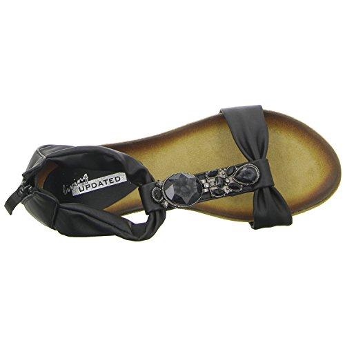 living Updated 2136-28 Damen Sandalette eleganter Boden Schwarz (Schwarz)