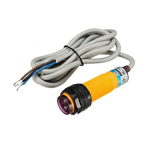 sourcing map Infrarotstrahl Streufarben Optisch Sensor Schalter E3F DS10C4 300mA DC 6-36V de