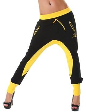 Jela London Pantaloni da jogging da donna bicolore con elastico