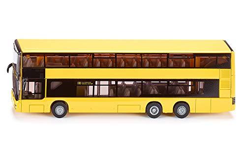 SIKU 1884, MAN Doppelstock Linienbus, 1:87, Metall/Kunststoff, Gelb, Bereifung aus Gummi -