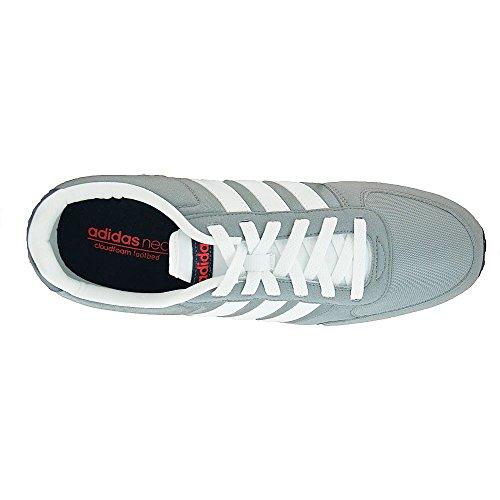 adidas Neo City Racer, Chaussures de Running Compétition Homme, Gris Multicolore - Gris / Blanco / Rojo (Gris / Ftwbla / Rojbri)