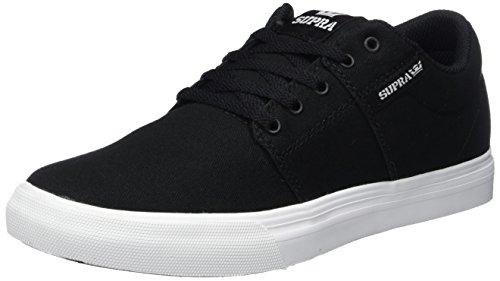 Für Schuhe Mädchen Supra (Supra Unisex-Kinder Stacks VULC II Sneaker, Schwarz (Black-White), 38 EU)