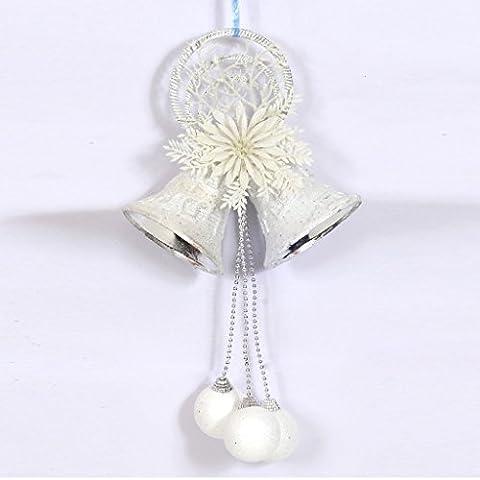 KRAFTZ® Christmas Tree Hanging Decorations White Snow balls Foam Jingle Bells and Balls for Xmas Tree Wedding Decoration Party Pendant Festive Ornaments Door / Wall Hanging