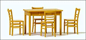 Preiser 1/43 Ème - PR65809 - Modélisme Ferroviaire - Tables et 4 Chaises