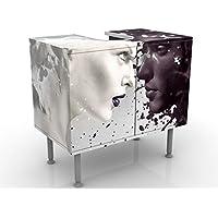 Meuble sous Vasque Design Milk & Coffee 60x55x35cm, Petit, 60 cm de Large, réglable, Table de lavabo, Armoire de lavabo…