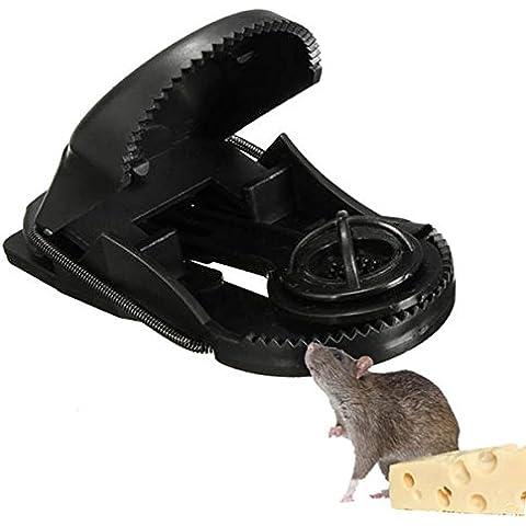 Bluelover Herramienta de Control de plagas de ABS plástico reutilizable ratón trampas roedores Catcher jardín 10pcs