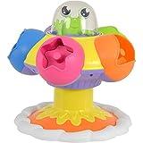 Tomy Baby Spielzeug Dreh-, Sortier- & Plopp UFO mehrfarbig - hochwertiges Motorikspielzeug für Babys ab 10 Monate