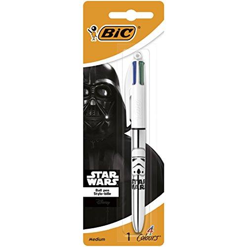 bic-945513-star-wars-four-colours-shine-ballpoint-pen-metallic-black-body-pack-of-1