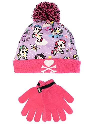 Tokidoki - Unicorno - Conjunto de gorro y guantes para niña - Un tamaño