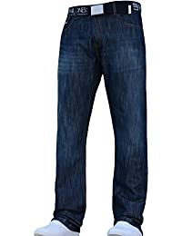 028253dbdcf405 Smith and Jones New Mens Designer Branded Straight Leg Regular Fit Relaxed Denim  Jeans Pants JEANBASE