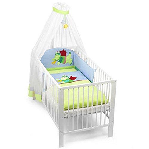Sterntaler Bett-Set inkl. Nestchen Bettwäsche und Himmelstoff im Motiv Drache Diego