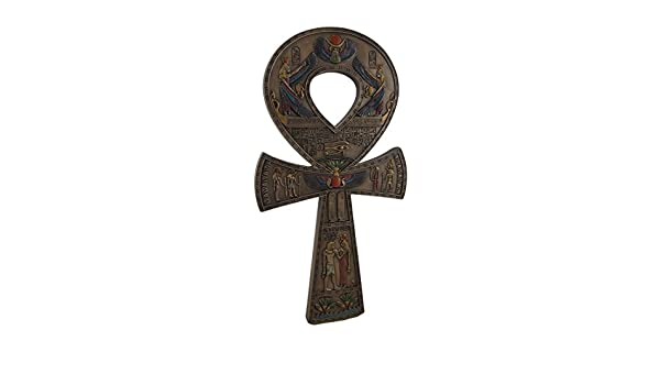 "Egypt Brass Ankh Life Key Key Of Life Cross Wall Hanging 7/"" EXPRESS SHIP TO USA"