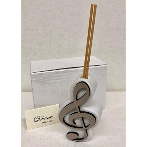 Publilancio srl Lilli Duftschlüssel Geige 9x5.5 cm Taupe Bonboniere -