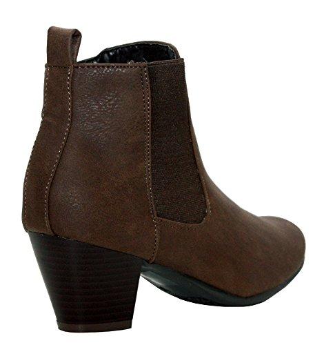 A&H Footwear  Mary/rebecca,  Mädchen Damen Chelsea Boots Braun