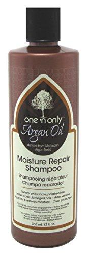 One 'n Only Shampooing réparateur One N'Only - A base d'huile d'argan - Hydrate et répare les cheveux secs - Donne du volume - 355 ml