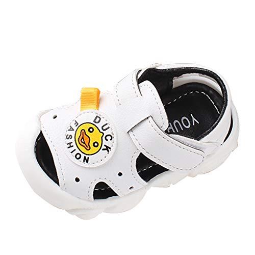 Pingtr - Baby Mädchen Schuhe Kleinkind,Rutschfeste Kleinkindschuhe der kleinen gelben Entenstrandsandelholze der Babykarikatur weichen Unterseite