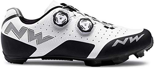 Northwave Rebel MTB Fahrrad Schuhe weiß/schwarz 2019: Größe: 44 (Northwave Carbon)