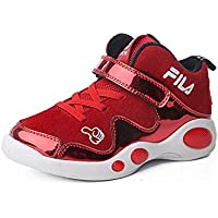JIE Zapatos de Algodón para Niños, Más Terciopelo, Velcro, Calzado Deportivo para Niños, Marea, Niños, Zapatos para Correr Ocasionales, Transporte Ligero, Zapatos para Mover,Rojo,31