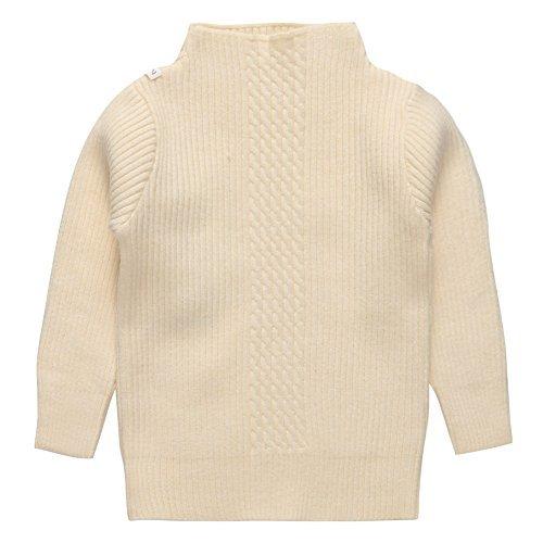 Coodebear Little Girls Undershirts Soft Cashmere High Collar Sweater Beige Size 3T