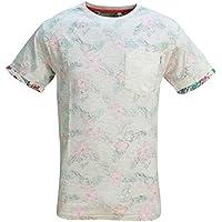 Soulstar Uomo Floreane T-shirt Reverse rovesciando il capo Manica Corta