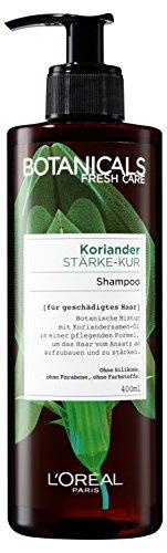 Botanicals Haarshampoo Fresh Care Koriander Stärke-Kur, Shampoo für geschädigtes Haar, Haarpflege ohne Silikon, 1er Pack (1 x 400 ml)