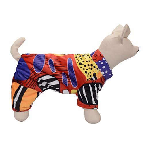 Balacoo haustierkleidung Hund Pyjamas pjs Katze Overall Bekleidung zusammenfassung Druck flexibel atmungsaktiv Ferien kostüm für Hund welpen (18 / 2XL) rot (Pjs Hund Kleidung Pyjama)