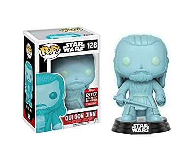 FUNKO - Bobble Head POP Star Wars Qui-Gon Jinn Holographic GITD (SWC 2017 Exclusive)