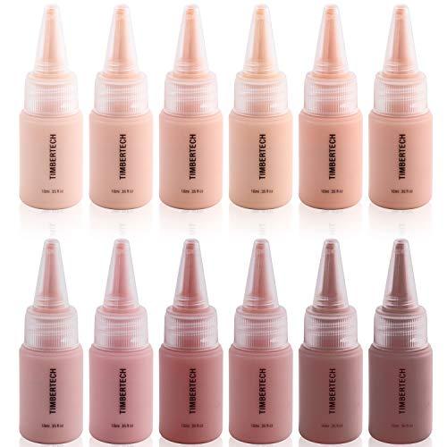Timbertech S/B Airbrush Makeup Foundation mit 12 x 10 ml Fläschchen mit allen Hauttönen der S/B Serie - Serie Airbrush