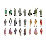 24pcs Painted Model Train Standing Posture People Figures Scale HO (1 to 87) P87-12