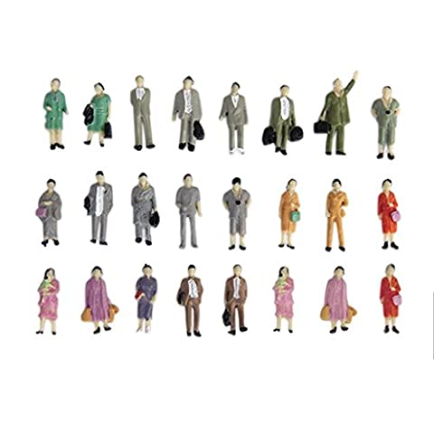 24pcs Painted Model Train Standing Posture People Figures Scale HO