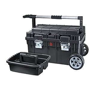 Maletín para herramientas con ruedas de Patrol Group SKRWT1 HDCZAPG001, mango telescópico, capacidad de carga de 20 kg, color negro