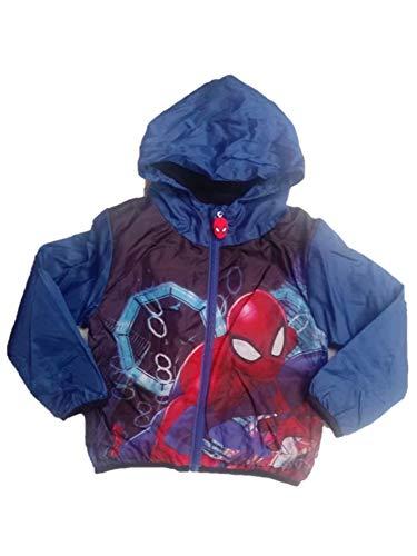 Boys Kids Spiderman Rain Mac Coat Jacket Fleece Water Resistant Hood Pac A Mac Pacable
