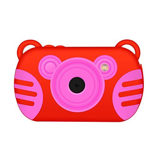 Cámara Digital Impermeable para Niños, CamKing K3 Cámara Digital Impermeable para niños de Dibujos Animados con, Pantalla de 2,7 Pulgadas(Rojo)